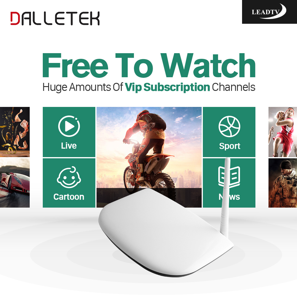 Dalletektv 700 TV Channels Arabic IPTV Box Leadtv Abonnement Android TV Box 1G 8G Smart TV IPTV Media Player Set Top Box