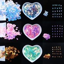 Rainbow Glitter Sequin 5x8mm Loose Unicorn Shape Paillettes Nail Art Manual DIY Craft Christmas Wedding Party Decoration 15g/bag