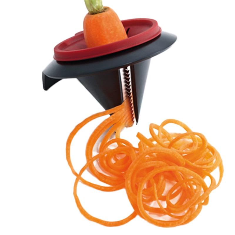 New Funnel Model Spiral Vegetable Shred Device Carrot Slicer Cutter Cooking Tool