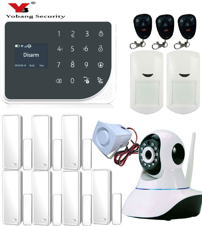 все цены на Yobang Security WiFi GSM Alarm system Detector Sensor Wireless Security Alarm System for home office store IOS Android APP