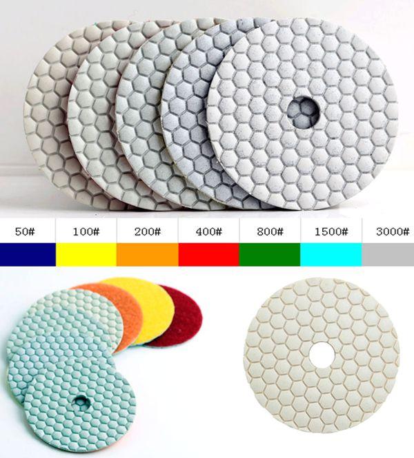 Envío gratuito almohadilla de pulido en seco de diamante de granito de 200 # 4 pulgadas (100 mm), para herramientas de pulido de granito