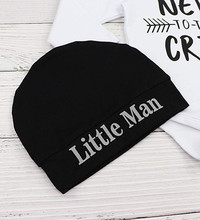 Newborn Baby Boy Clothes Letter Print Romper Tops +Long Pants+Hat 3PCS Outfits newborn baby girl clothes brand infant kleding
