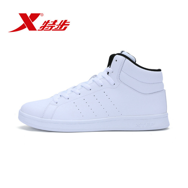 983419319086 xtep белые туфли для мужчин Скейтборд Спортивная обувь высокие ботильоны обувь для скейтбординга враг человек