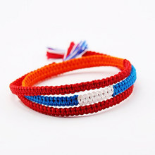 Fashion Hot Your Name Bracelets Japan Movie Your Name Braided Lucky Red Rope Friendship Bracelets Jewelry For Men Women(China)