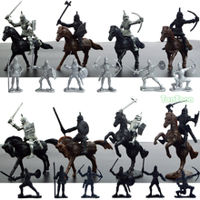 12Pcs Roman Soldier + 8pcs Cavalry Model dolls Action Figures Toys Kit DIY Medieval Warrior 5-7cm height