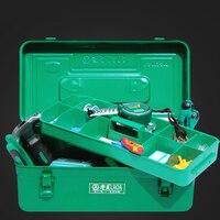 Laoa engrossar caixa de ferramentas ferragem grande capacidade ferro toolkit ferramentas caso armazenamento com camadas internas|metal tool box|tool case|box tool box -