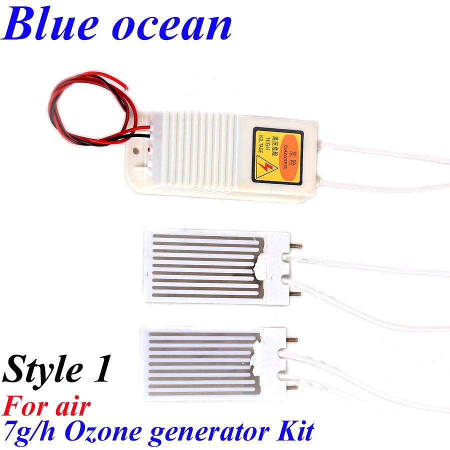 ФОТО BO-2203PWAM*2 BO-2207PWAM BO-127PWAM, AC220V/AC110V/DC12VDC24V 7g Ceramic plate type ozone generator xerador de ozono ozonizador