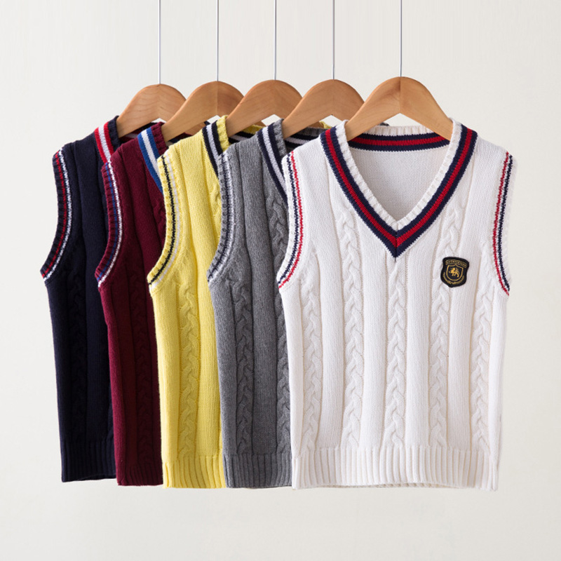 e44555bc9612 Dropwow Spring autumn 100% cotton cardigan teen boy s V-neck sweater ...