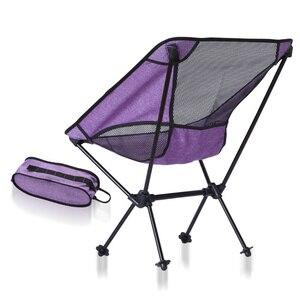 Image 5 - Silla de pesca con forma de luna y 7 colores opcionales, muebles plegables para exteriores, ultraligeros, color morado, 0,9 KG