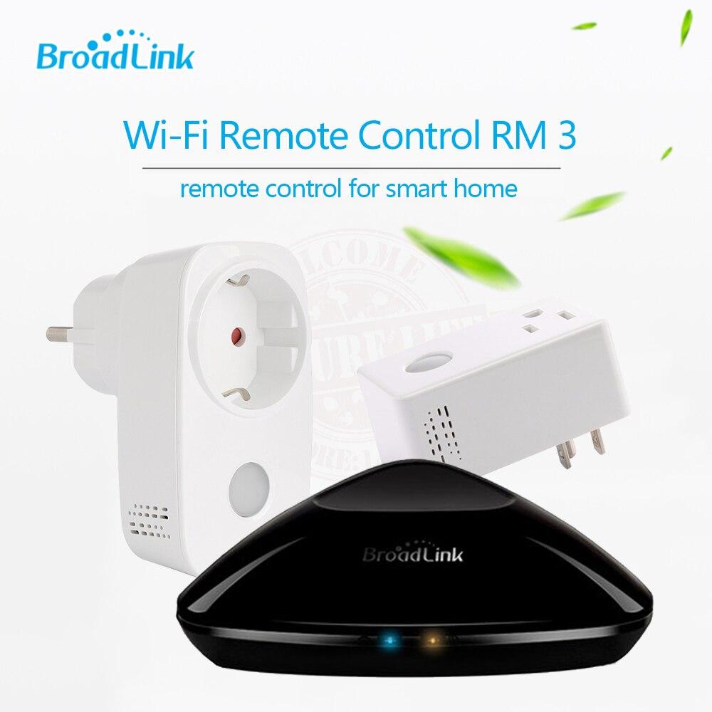 Broadlink RM PRO + SP3 SP CC, EU szabvány, univerzális távirányító vezérlő + WiFI intelligens aljzat csatlakozó iPhone iPad Androidhoz