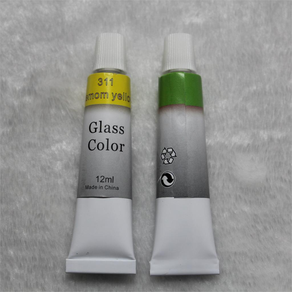 Color Glass and Acryl Paint - Set of 12 4