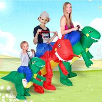 Inflatable Dinosaur Costume Fan Kids Adult Party Halloween Cosplay Animal Dino Rider T Rex Costumes For