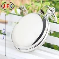 Silver British fashion retro mechanical watch male ladies single smooth simple flip Arabia B029