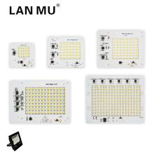 ФОТО led lamps smd chip smart ic ac 220v input 10w 20w 30w 50w 90w for diy outdoor floodlight cold white/warm white