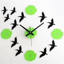 Chinese Style Large Lotus Mute DIY Clock