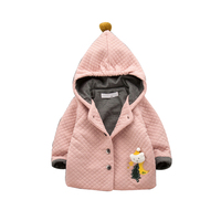 Baby Autumn And Winter Models Baby Plush Thickening Jacket Baby Children Out Service Korean Version