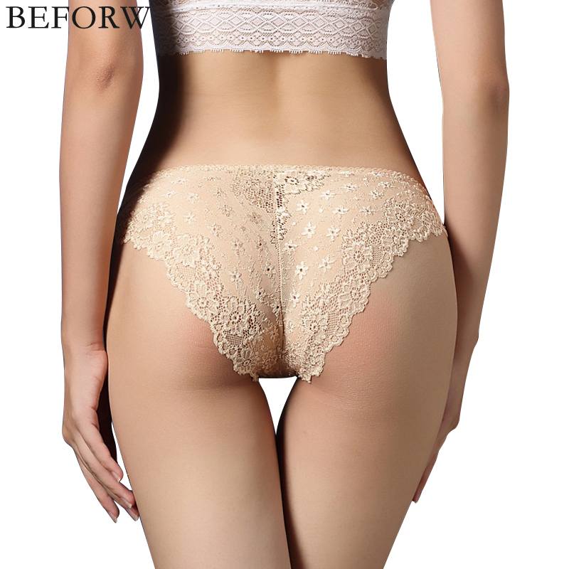 BEFORW Fashion Floral Women   Panties   Lace Low Rise Briefs Breathable Temptation Sexy Lingerie Underwear Women Sexy   Panties   Briefs