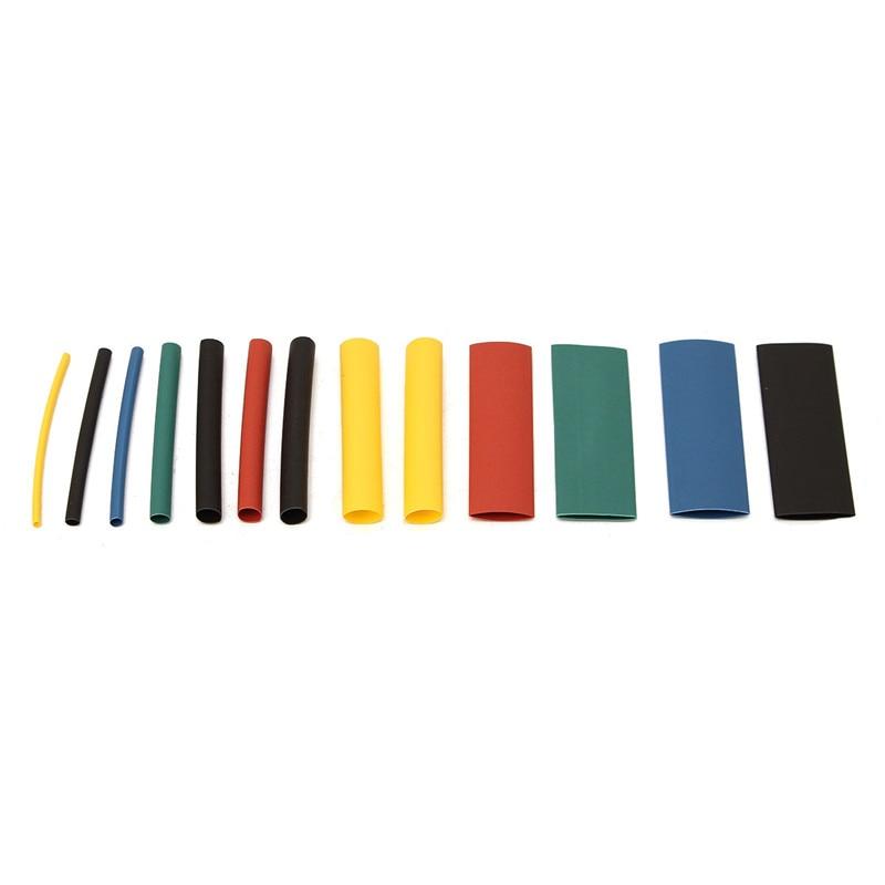 280 Uds 8 tamaños Multi Color poliolefina 2:1 manguito de tubo retráctil manguito de calor surtido tubo de envoltura de alambre Kit tubos Kits