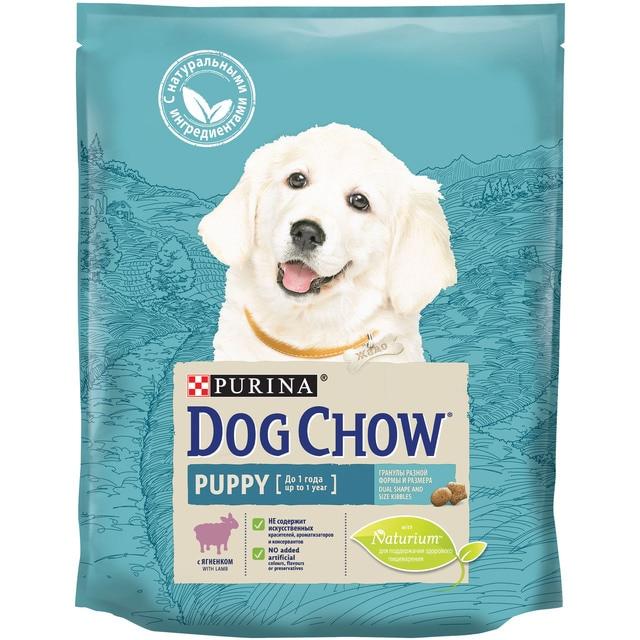 Сухой корм Dog Chow для щенков, с ягненком, Пакет, 800 г