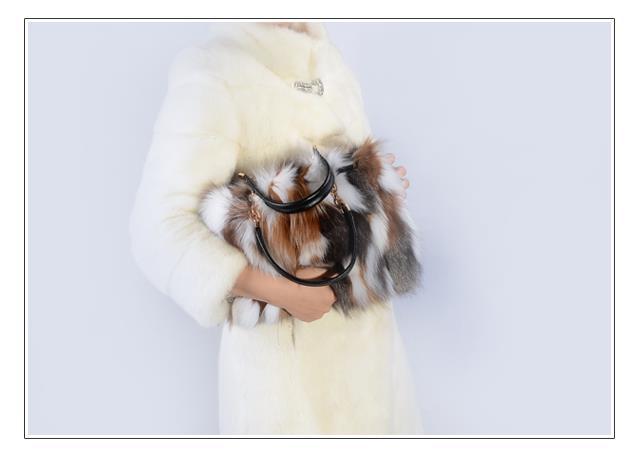 4 Sac a main en réel fourrure de renard