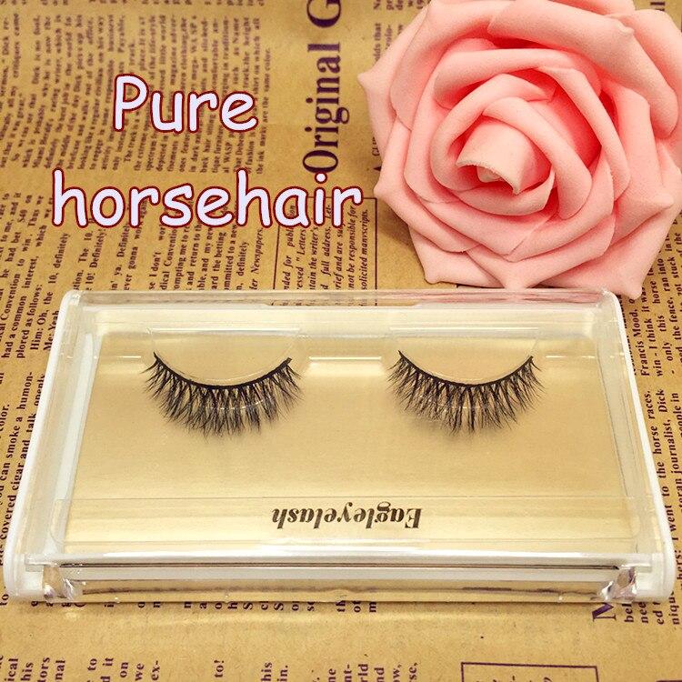 New package 1 pair Horse Hair False Eyelash Extension H11 Makeup Cosmetics Natural Long Crisscross Fake Eye Lash Free shipping