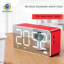 LED Bluetooth speaker wireless radio watch of Overweight Subwoofer Lights music player Mini Home decorate soonze electric clock