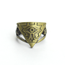 цена на Anime Yu-Gi-Oh Millennium eyes Logo Ring Hollow Brozen Cosplay Finger Handmade Unisex Otaku Gifts Cosplay