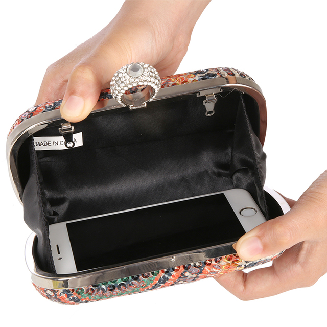 Sequins Knuckle Rings Clutch Purses