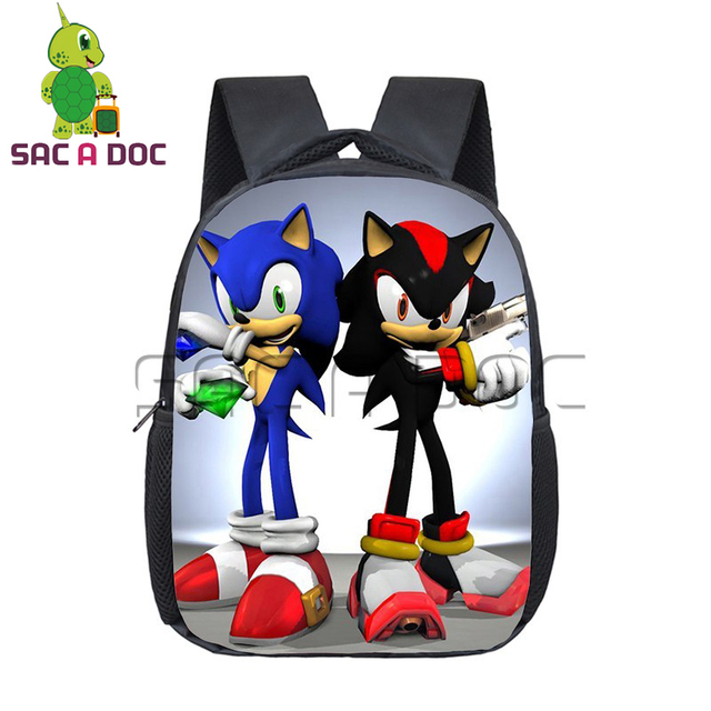 tout neuf 2c671 2d67b € 14.4 20% de réduction|Enfants Sonic Shadow impression maternelle sac à  dos enfants sacs d'école garçons filles étudiants primaire cartable ...