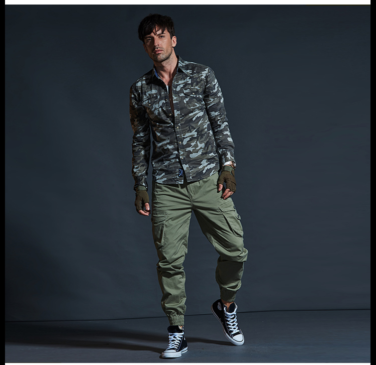 High Quality Khaki Casual Pants Men Military Tactical Joggers Camouflage Cargo Pants Multi-Pocket Fashions Black Army Trousers 75