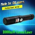 OXLasers OX-GX9 520nm (НЕ 532nm) 1000 МВт 1 Вт Фокус Зеленая лазерная указка Яркие Горит Лазерный Свет сигары бесплатная доставка