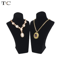 Jewelry Display for Necklace Pendant Show Cases High Quality Velvet and Resin Material Jewellery Stand Holder 6*9*24cm