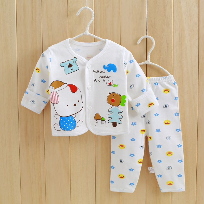 2017 Cotton Full Sleeve Baby Clothing Set Autumn Cheap Newborn Toddler Boys Clothes