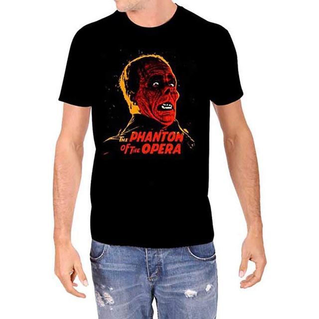 d19453e44167 Universal Monsters PHANTOM OF THE OPERA Men's Black T-Shirt T Shirt Hot  Topic Men Short Sleeve