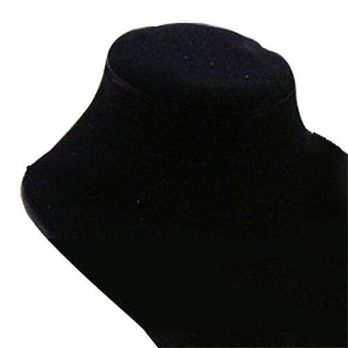DHDL! Sklep manekin biust biżuteria naszyjnik wisiorek ekspozytor na kolczyki uchwyt czarny-XL