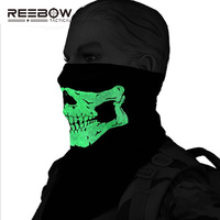 Military Skull Tactical Mask Ghost Noctilucent Reflective Army Paintball Outdoor Sports Bicycle Motorcycle Scaff Headband Masks