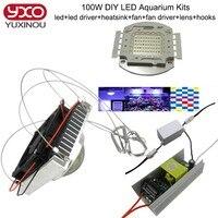 50 w 100 w luz do aquário para corais diy 100 w multichips led aquarium led chip, melhor para a marinha, Tanque de Peixes, para Recife de Coral, Crescendo