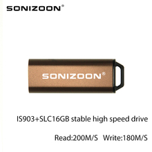 SONIZOON XEZUSB3.0009 Push and pull USB3.0 drive USB flash drive IS903scheme ofSLC16GB  Stable highspeed memoriaast ourspop op 11 push pull style usb 2 0 flash drive silver black 8gb