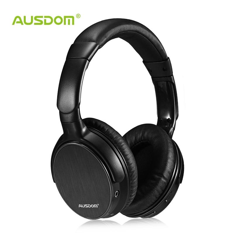 Casque d'écoute Bluetooth sans fil filaire léger Ausdom M06 sur l'oreille casque stéréo basse profonde kit mains libres appelant casque de musique