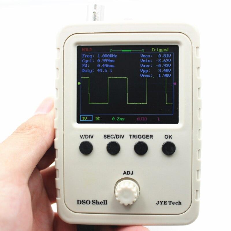 Oscilloscopio digitale Kit FAI DA TE Parti con il Caso SMD Saldati Apprendimento Elettronico Set 1MSa/s 0-200 KHz 2.4