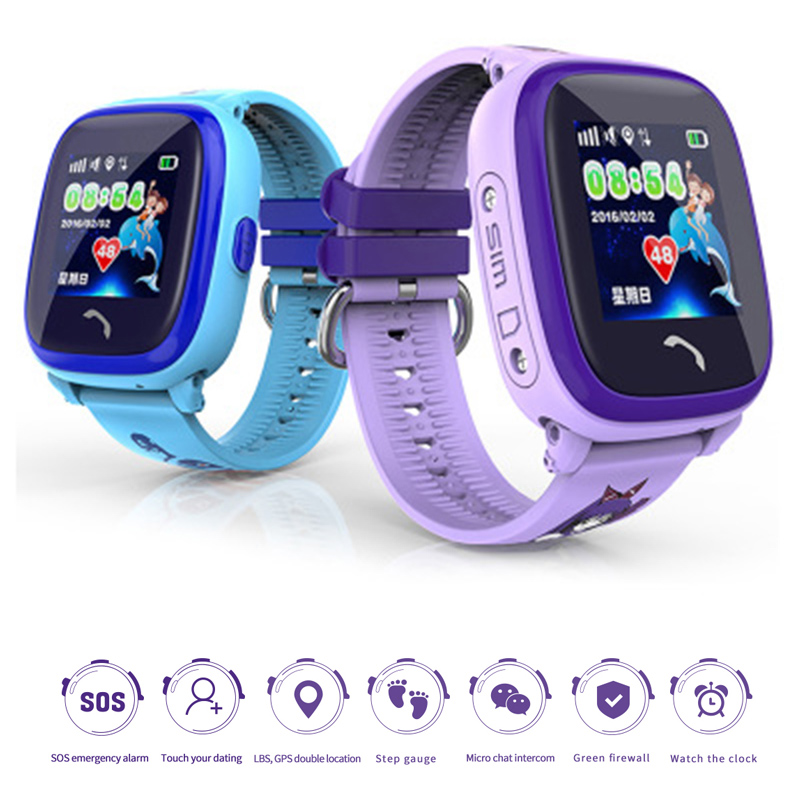 DF25 Children GPS Smartwatch IP67 Waterproof Touch Screen Kids SOS Call Location Device Tracker Anti-Lost Monitor Smart Watch