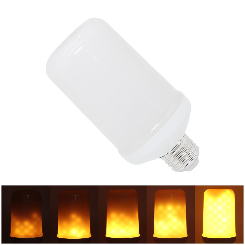 SMD 3528 E27 E26 LED Flamme Wirkung Glhbirne 3 Modi Simulation Feuer Aufflackern FHRTE Lampe