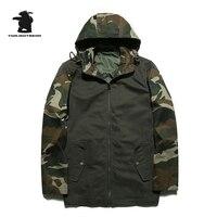 Новый Для мужчин S Камуфляж Повседневная куртка дизайнер 100% мыть хлопок Мода с капюшоном thinplus Размеры Повседневная куртка пальто Для мужчин...