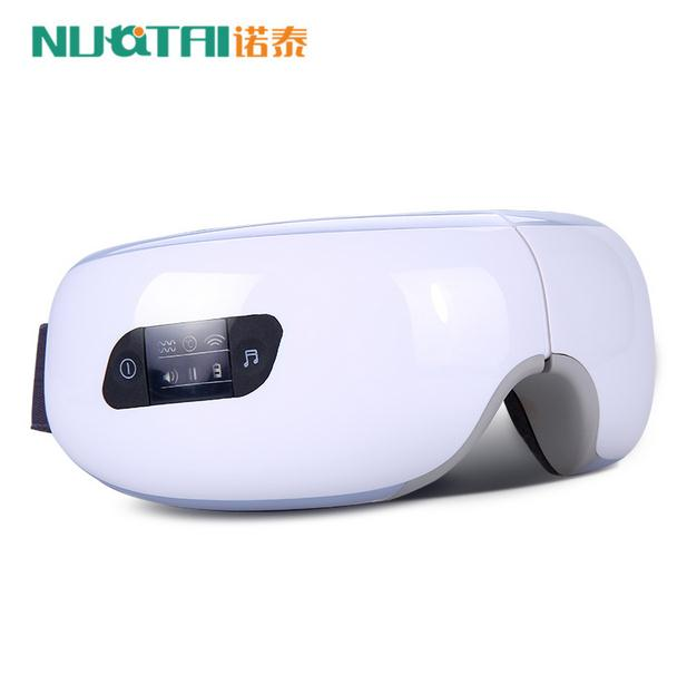 Electric Air pressure Eye massager with mp3.Wireless Vibration Magnetic heating therapy massage device.myopia care glasses free shipping new air pressure eye massager with mp3 6 functions dispel eye bags eye magnetic far infrared heating eye care