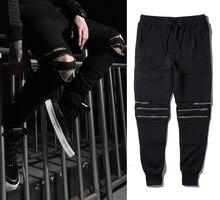 2016 hohe qualität GOTT Yeezu West Vintage straßen Hip hop Herren lange Hosen reißverschluss Casual Jogger Tanz Sportwear
