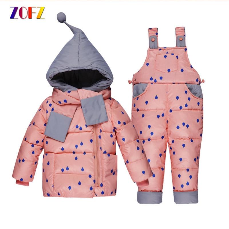 ZOFZ 2pcs/set baby girl clothes Down Coat+Romper fashion Baby clothing sets 2018 children Hooded Print Full Sleeve babies set stylish scoop neck half sleeve argyle print women s romper