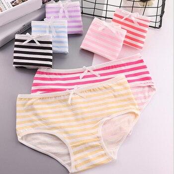 Fashion New Womens cotton panties Girl Striped Bow Briefs Cute Sexy bikini underwear Ladies Female Lingerie Breathable Panty