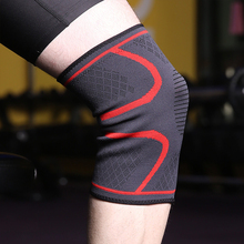 1PC Knee Protector Support Braces Fitness Knitting Breathable Elastic Nylon Running Cycling Volei Rodilleras Basketball Sports