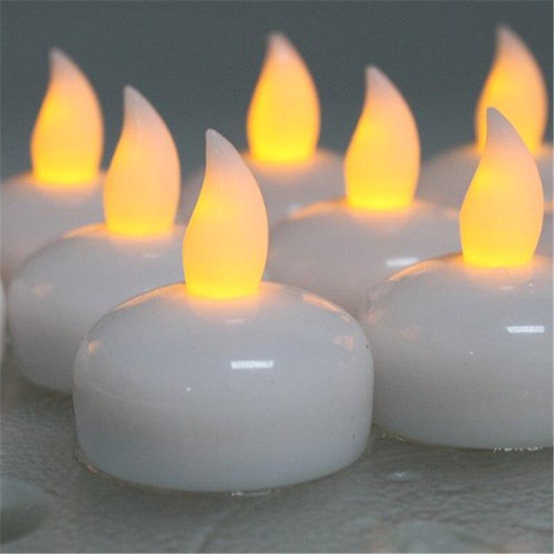 Kerzen Rational 12 Stück Bernstein Gelb Glow Schwimm Led Kerze Licht Kalt Weiss Led Wasserdicht Teelicht Kunststoff Helle Flammenlose Kerze Haus & Garten