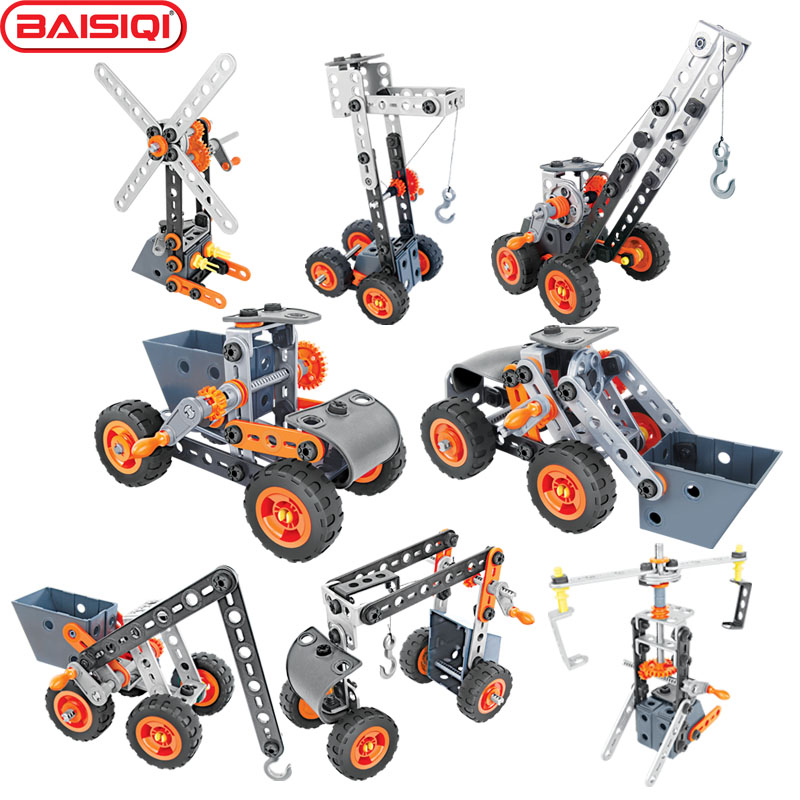 8 IN 1 model building block Assembly tool set Truck Vehicle Crane Windmill Creative science DIY toy kit for pupil Birthday Gift solar windmill w120 jigsaw puzzle building blocks environmental diy toy